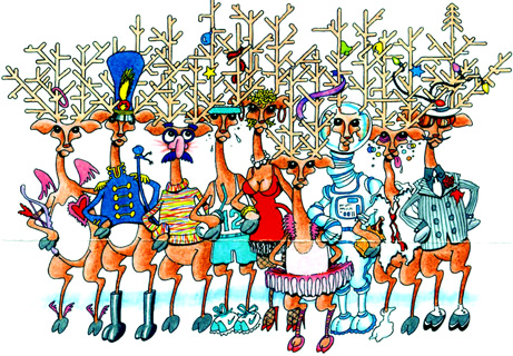 Guess who's the Prancer, the Dancer, the Comet, etc.