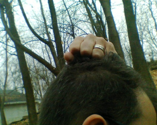 STEP #3.Pulling out hair is an old stand by, not intended for use with bald people.