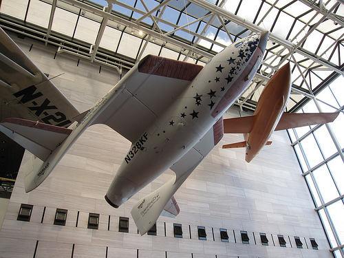 SpaceShipOne, at the huge National Air and Space Museum in Washington DC.