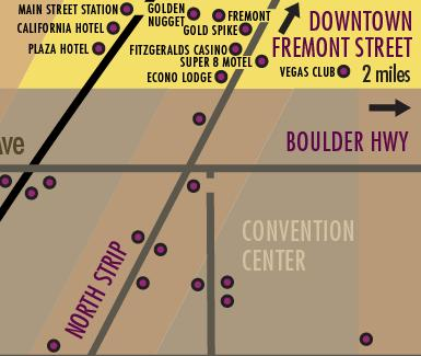 Las Vegas Downtown Hotels Map