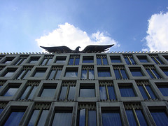 The USA Embassy in London showing the Eagle