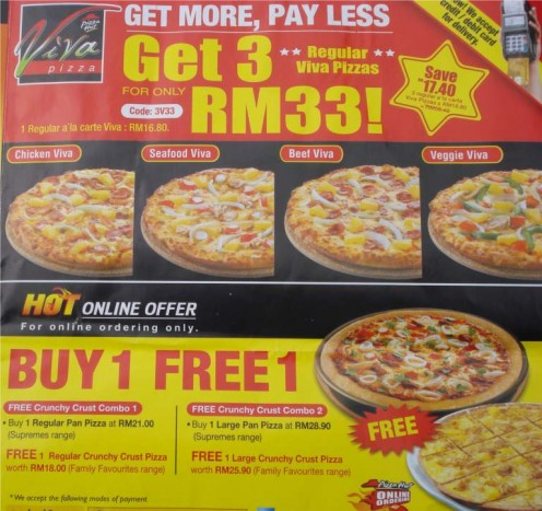 Buy 1 - Free 1 Pizza Offer