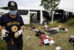 The gruesome scene in Maguindanao massacre (November 23, 2009)