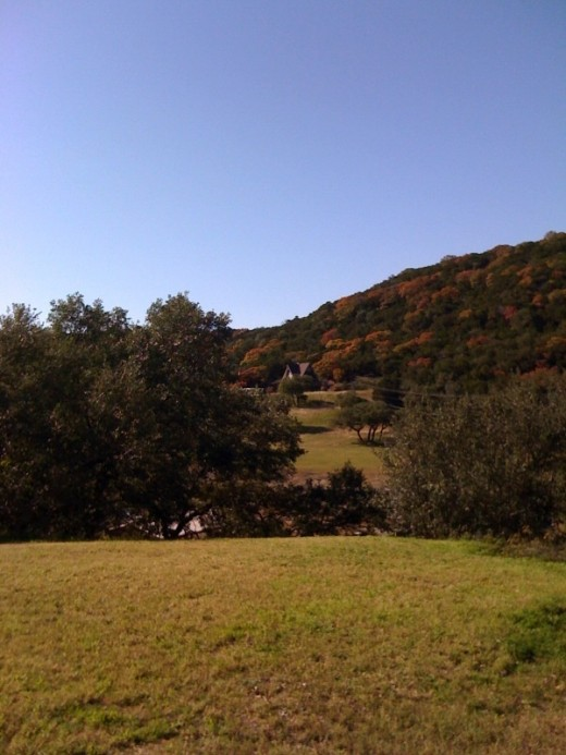 The Texas Hill Country with its Fall Foliage, taken in the Lake Travis area.