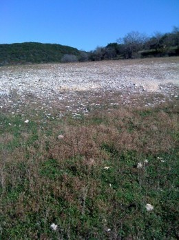 A dry area of Lake Travis