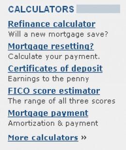 Bankrate.com Calculators