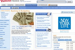 Yahoo Finance - Banking and Budgeting