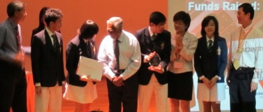 President S R Nathan giving away Awards and Prizes