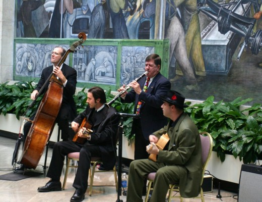 The Gypsy Strings at the Rivera Court, Detroit Institute of Arts, 2005, deedsphoto
