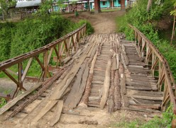An Ancient Wooden Bridge