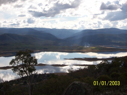 Lake in Australia's Snowy Mountains