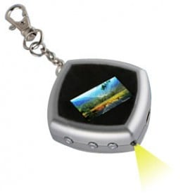 Take your photos on-the-go with this cool digital picture frame keychain!