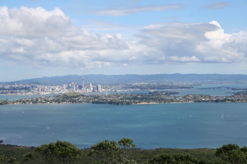 Auckland City and Harbour from the top of Rangitoto Island
