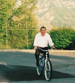 Great Grandpa Anderson and his bike