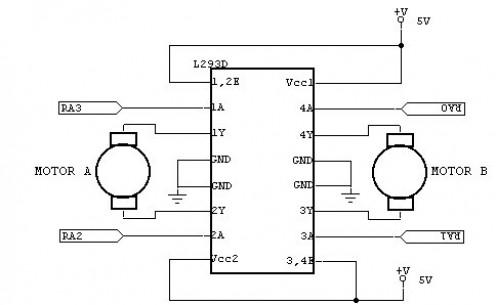 L293D Motordriver IC