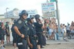 Police ready for a riot