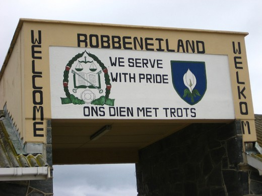 Mural over Robben Island Main Gate