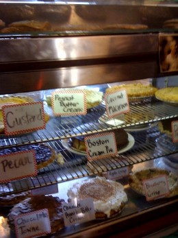 A small cafe in the Amish area outside Fort Wayne, Indiana.  The desserts were awesome!
