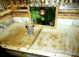 The slab covering the tomb in which Christ was laid following his crucification