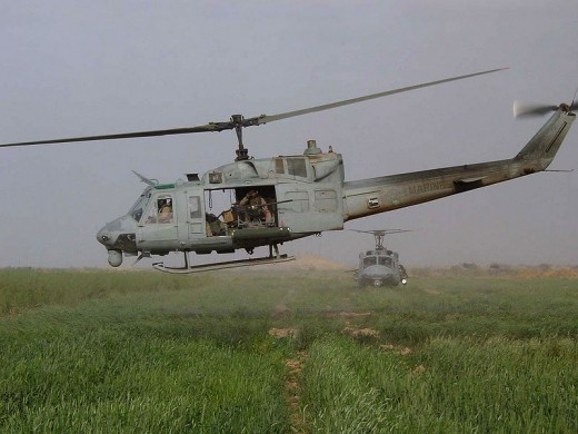 Huey UH-1N in Iraq 2003 Wikimedia - Public Domain