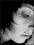 Normal, healed Monroe piercing.