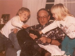 My dad with two of my kids around the time of this story