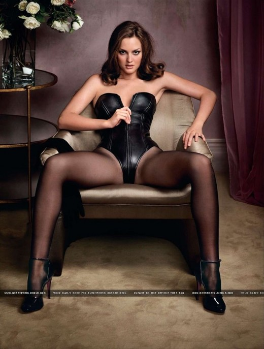 Leighton Meester in lingerie in a GQ photoshoot