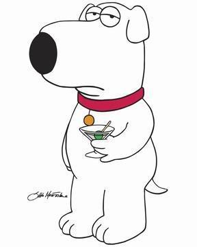 Brian the Dog on Family Guy