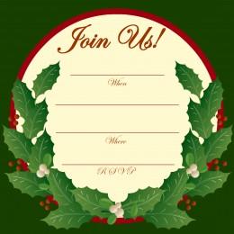 Free Printable Christmas Invitations