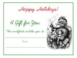 Free Printable Holiday Gift Certificates