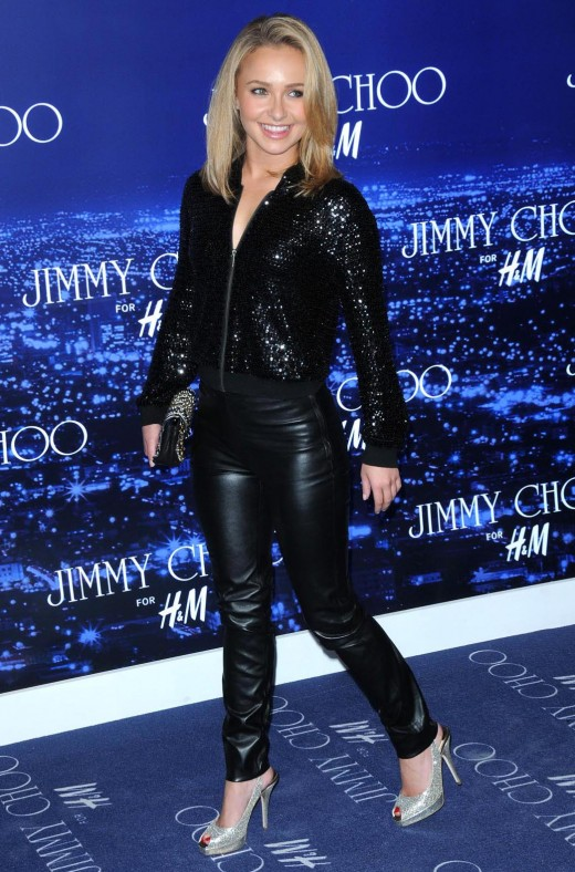 Hayden Panettiere at a Jimmy Choo event in high heels