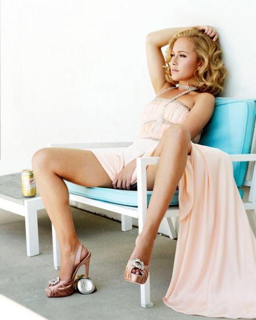 Hayden Panettiere in an Elle magazine shoot in high heels