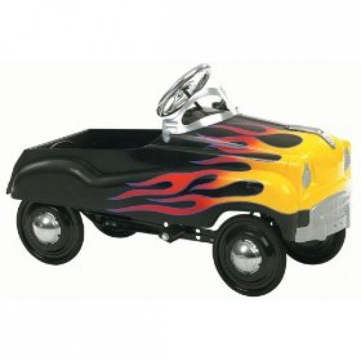 Grease lightening toy pedal car