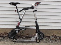 A-bike with test scooter preview vehicle.