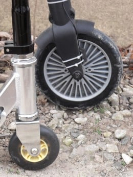 Scooter and A-bike wheel study.