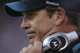 Jack Del Rio looks on in the final seconds of a 20-3 loss to the San Francisco 49ers in an NFL football game in San Francisco, Sunday, Nov. 29, 2009. (AP Photo/Tony Avelar)