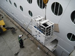 Loading Luggage on to a Cruise Ship