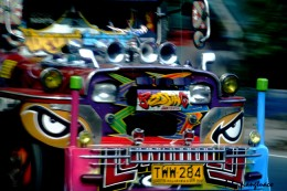 Front decorations on the jeepney