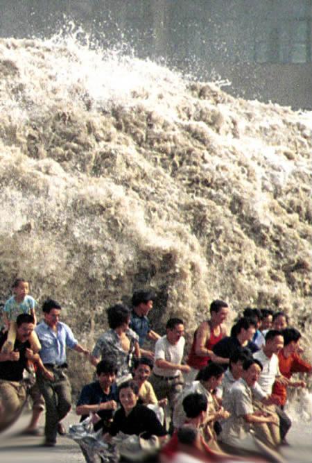 Tsunami strikes, too late to change now!