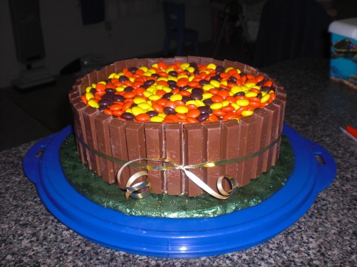 Fall colors  WASC Chocolate cake with peanut butter frosting.