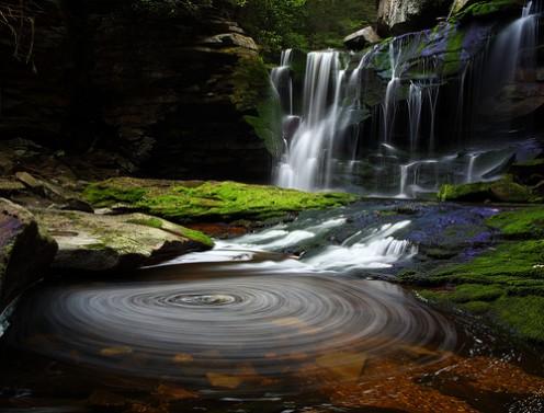 Elakala Waterfalls Swirling Pool, Blackwater State Park, West Virginia, USA by forestgladesiwander @ flickr