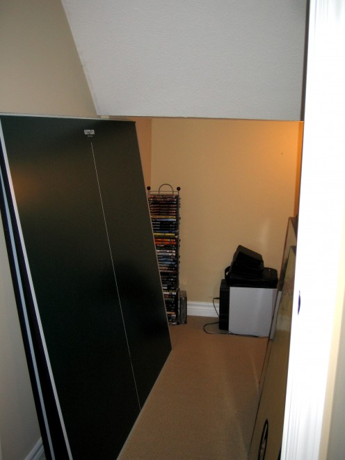 closet under stairs