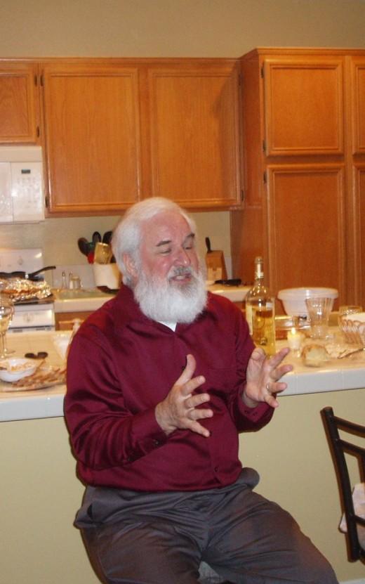 I end up looking like Santa