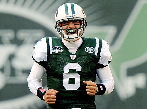 New York Jets quarterback Mark Sanchez has a lot to be excited about as the Jets beats the Panthers