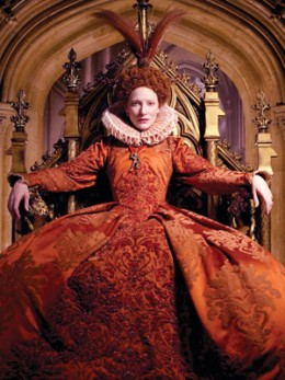 cate Blanchett as Queen Elizabeth in the movie with the same title
