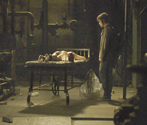 scene where Rickie revisits the girl in sympathy because she is tied up.