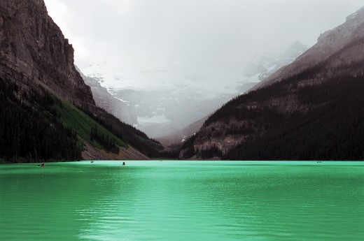 World famous Lake Louise in Banff National Park.