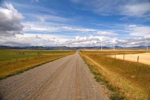 Southern Alberta prairie-scape