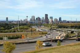 Downtown Calgary - home to 120-125,000 Americans