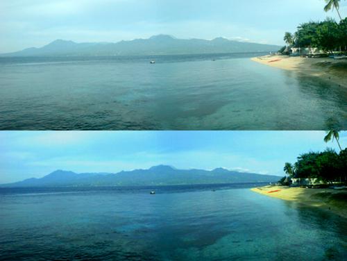 Negros Island viewed from Liloan Resort from Santander, Cebu